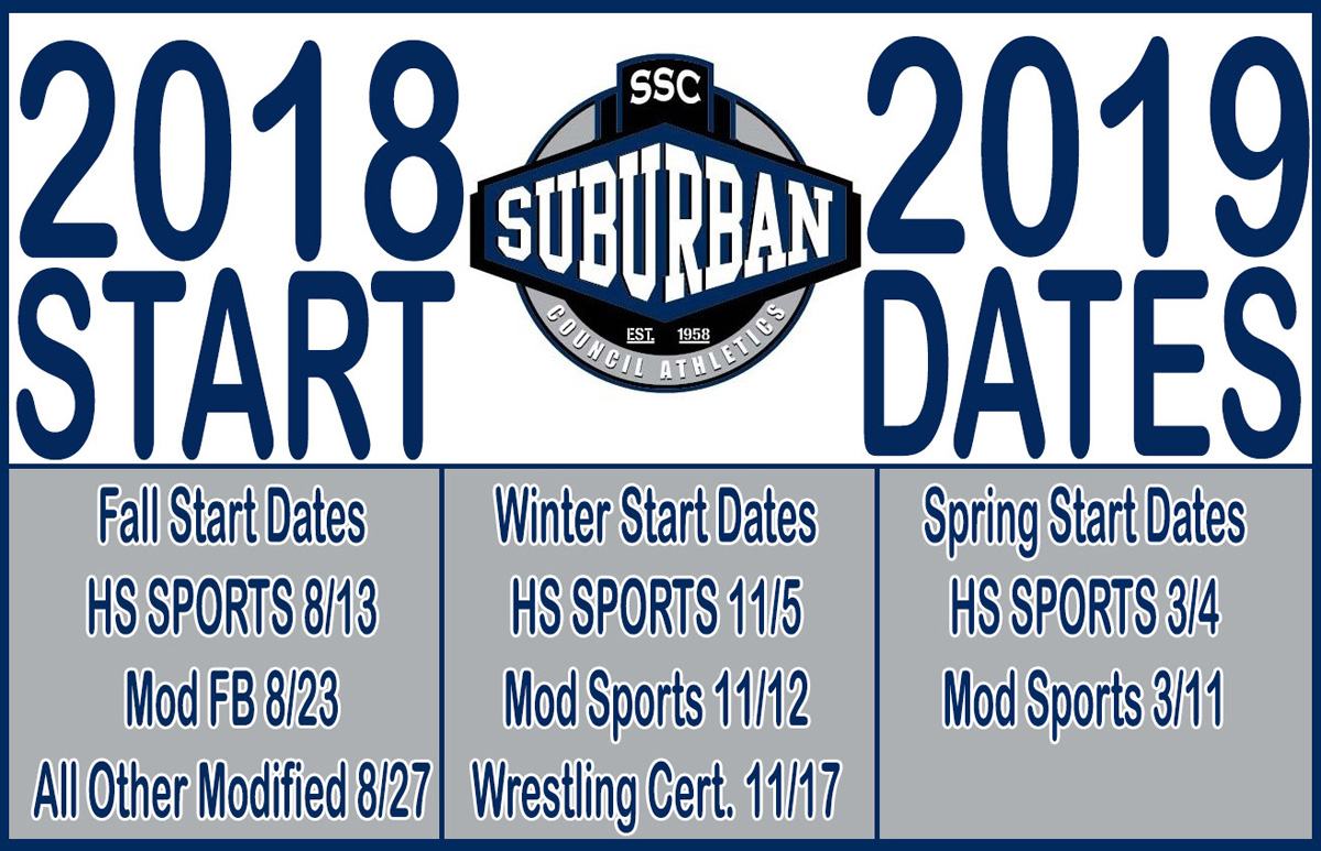 2018-19 Athletics Start Dates