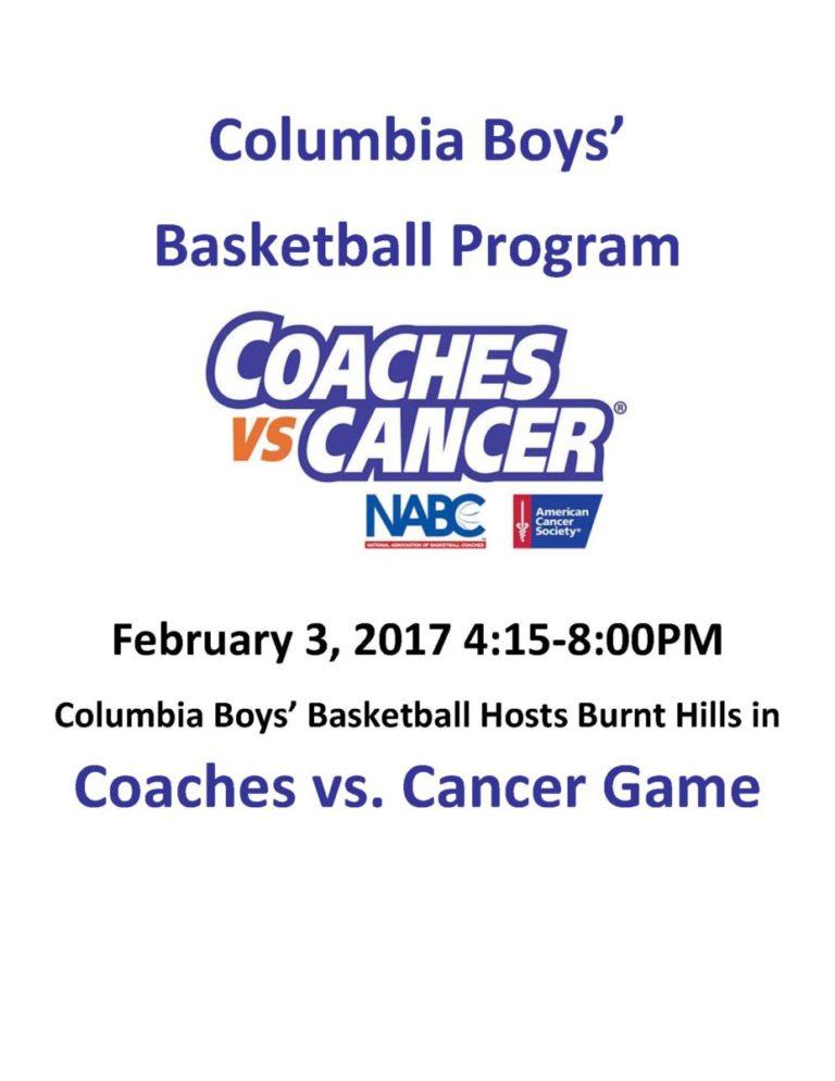 Coaches vs. Cancer Flyer