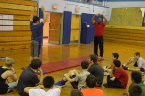 Curtis Sankey leads Goff PE class