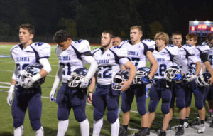 Football team homecoming 2015