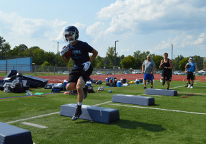 Drills at football practice