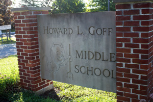 Goff Middle School sign