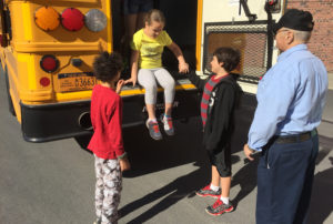 Bus safety drill