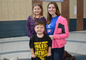 Chase and Payton Foley with Erin Condo at Columbia High School