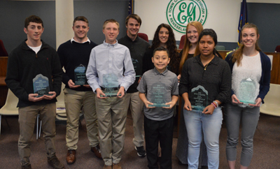 Students Receive Youth Awards from Town of East Greenbush