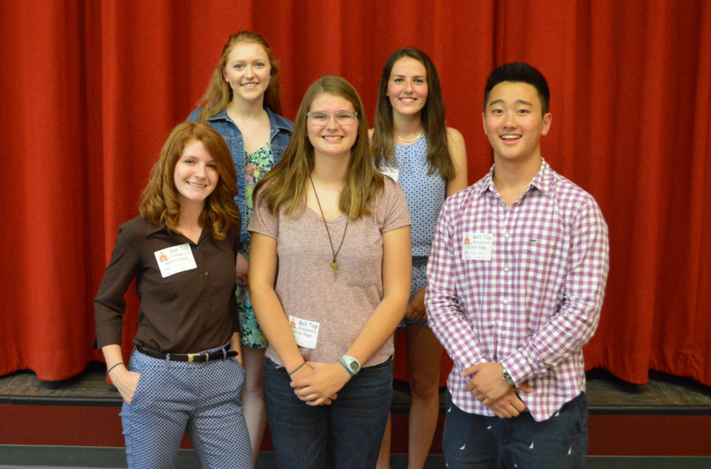 Front row (L to R): Alexandra Massey, Adrianna Halsey, Eric Chen. Back row: Olivia Koonz and Madeline Westhuis.