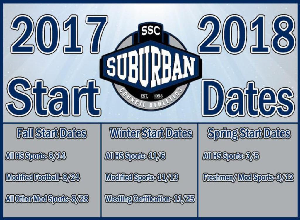 2017-18 Athletic Start Dates