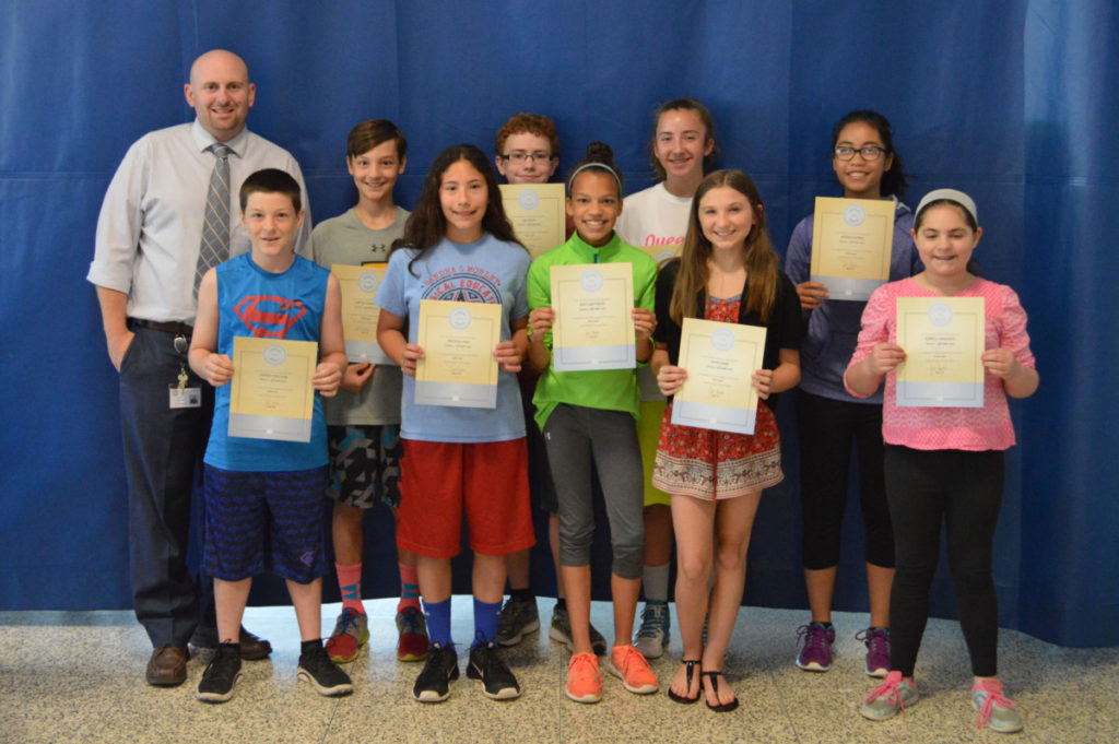 6th Grade Students of the Month May 2016