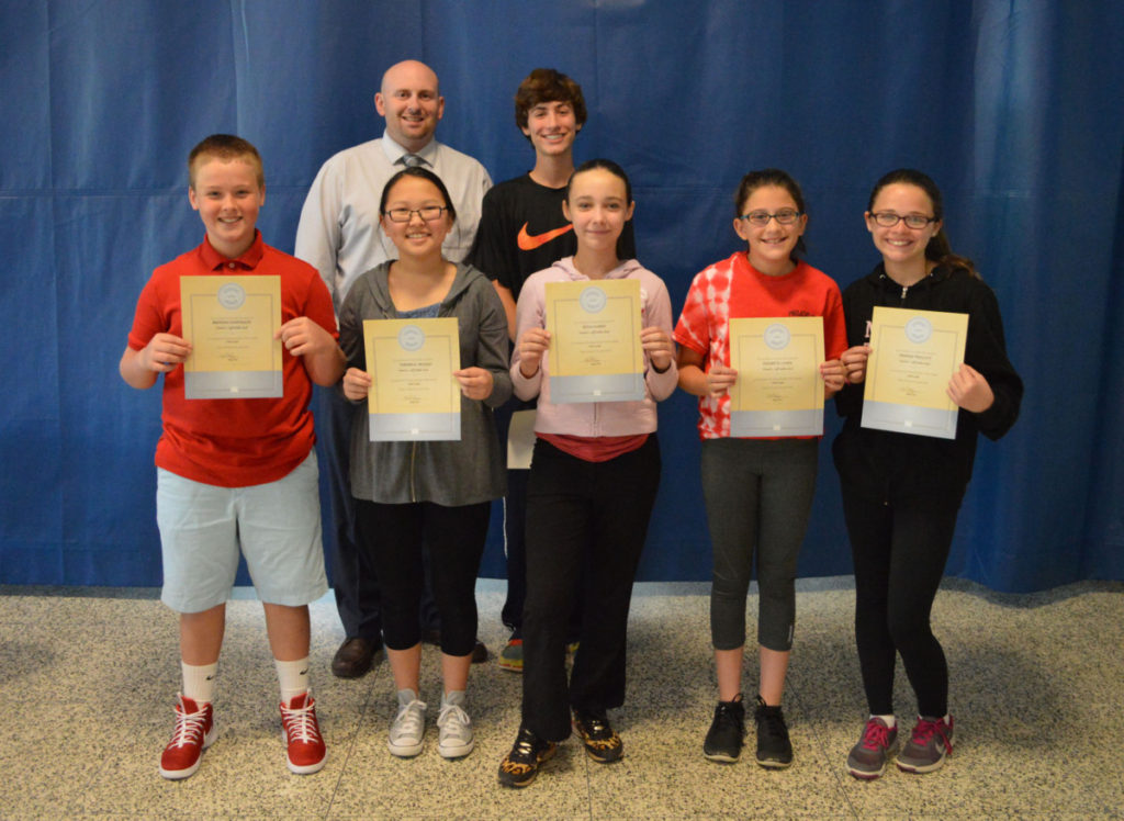 7th Grade Students of the Month May 2016