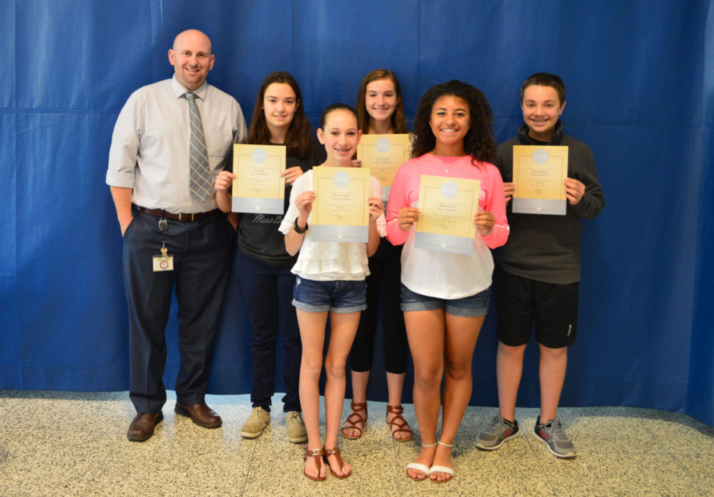 8th Grade Students of the Month May 2016