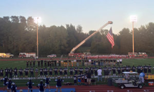 Columbia honors local fire, EMS, police and veterans in a pre-game ceremony on September 11, 2015.