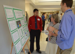 Parth Bhide presents his research findings at Columbia's Science Research Symposium last year.
