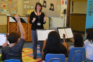 Megan Scolaro teaching