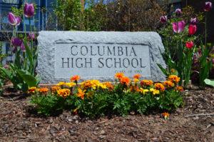Columbia stone sign