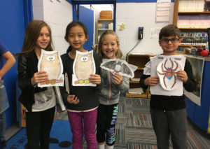 Second and third graders complete research project about owls, bats and spiders.