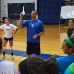 Chris Hosley coaching volleyball