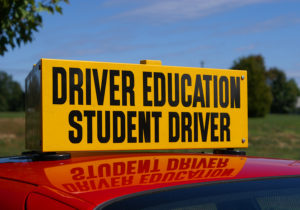 Driver Education signage