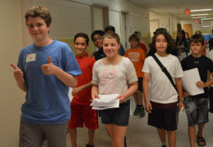 Students take a tour of Goff Middle School