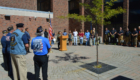Student speaks during 9-11 Remembrance Ceremony