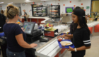 Students buying lunch in CHS cafeteria