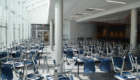 Upper level seating of CHS cafeteria