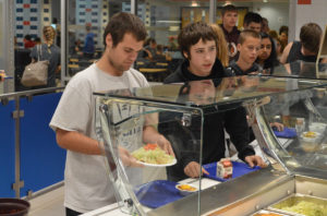 CHS lunch line