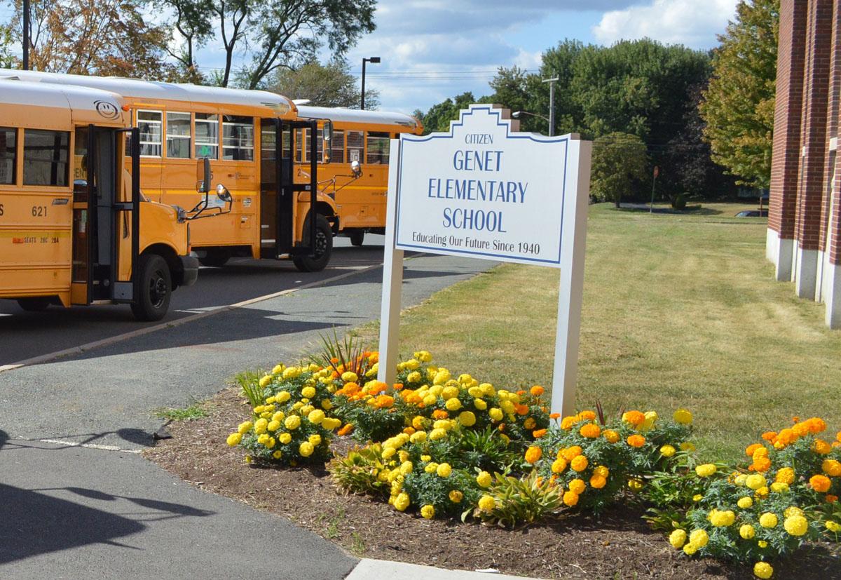 Genet Elementary School sign