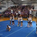 Cheer team at Pep Rally