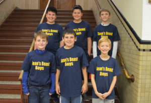 Top row (L to R): Aiden Dailey, Luke Cioff, Evan Albert. Bottom row (L to R): Andrew Gabriel, Shane Baker, Cole Durivage.