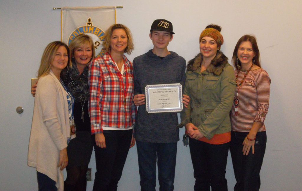 Brett Hackel student of the month