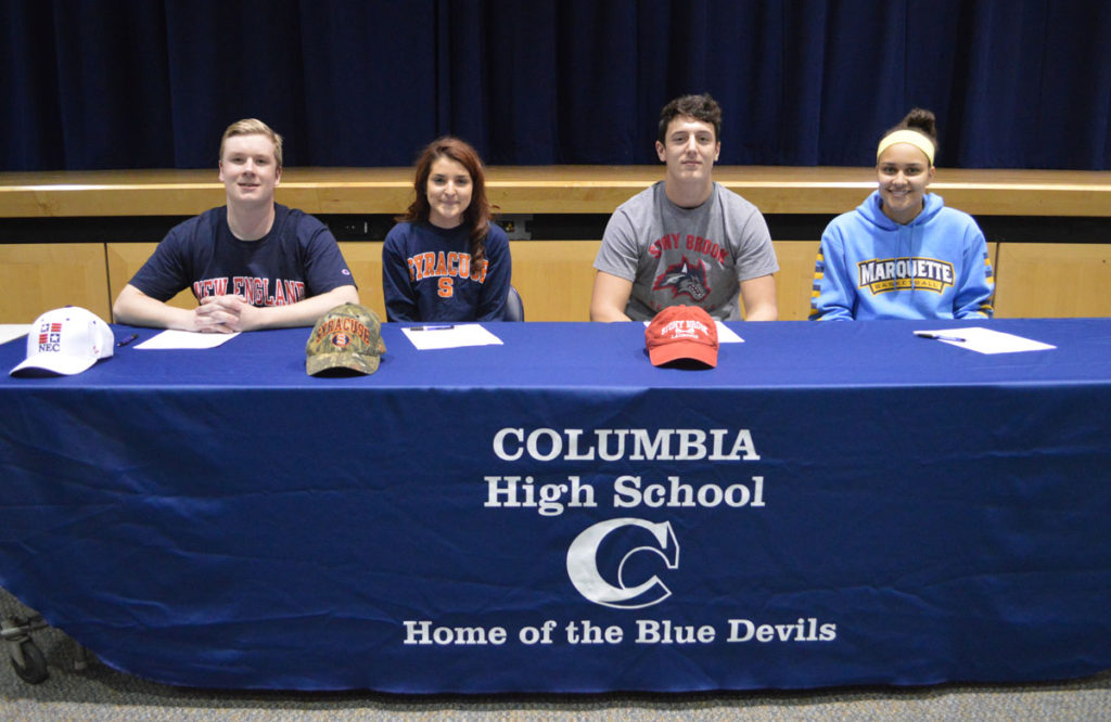 Columbia students sign NLIs