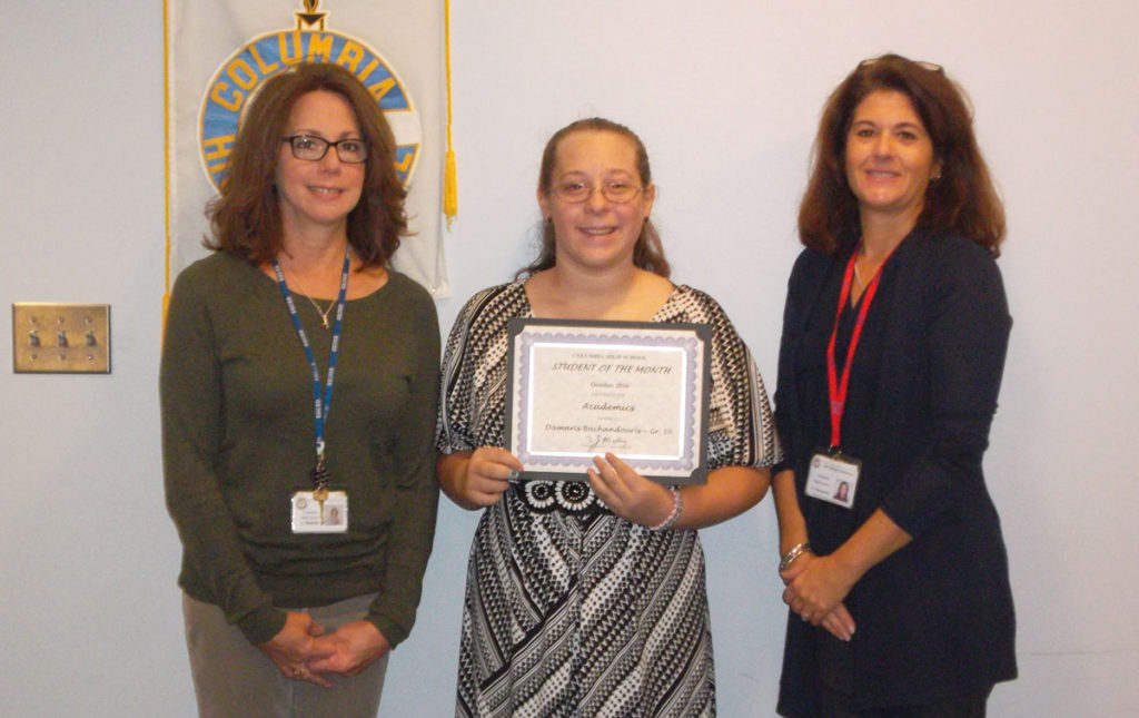 Damaris Bachadouris student of the month