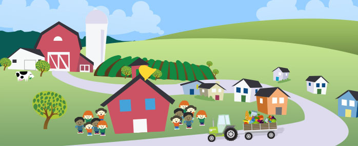 Farm to school graphic