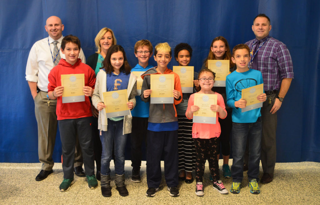 Goff October students of the month 6th grade