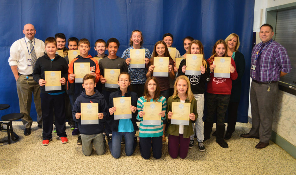 Goff October students of the month 7th grade