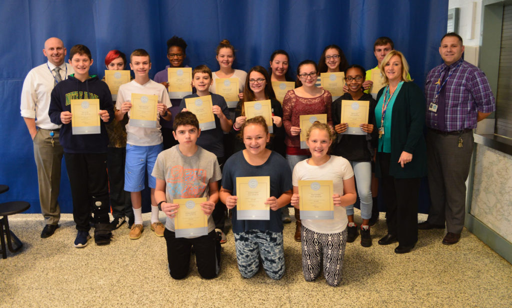 Goff October students of the month 8th grade