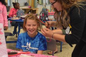 Pink hair fundraiser