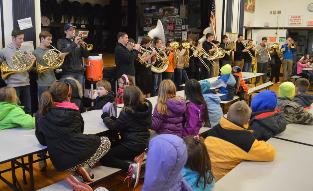 CHS band playing Christmas carols at DPS
