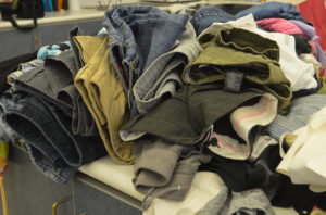 Clothes donated to Basement Boutique