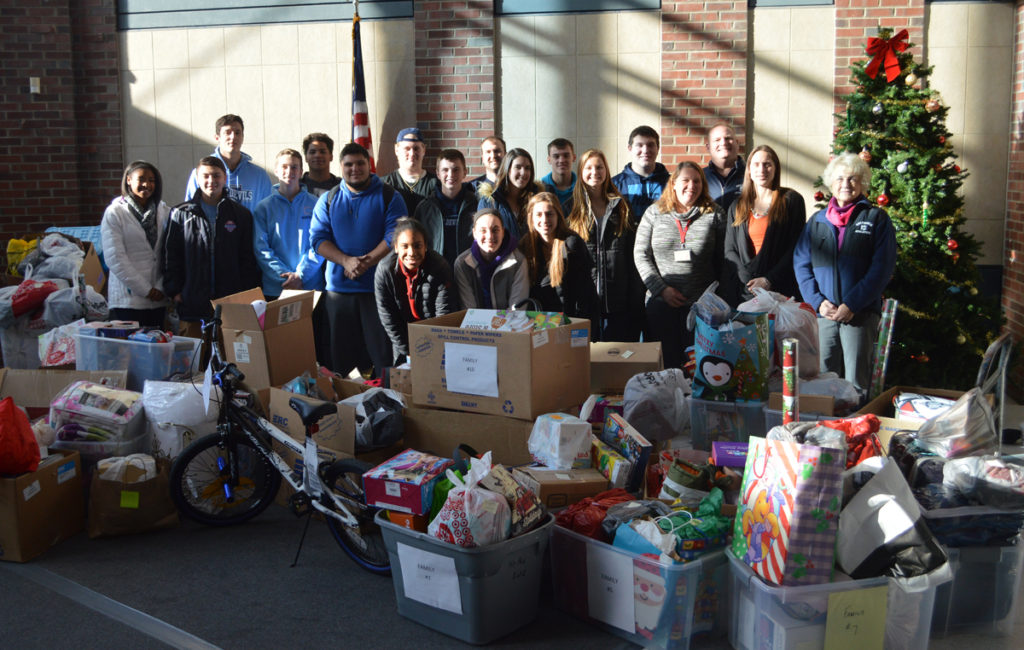 Columbia athletics adopt a family1