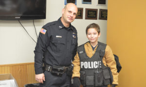 Officer Eckel with student