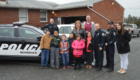 Students with Schodack police officers