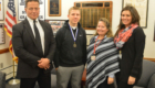 Student recognized with leadership award by Principal Sawchuk