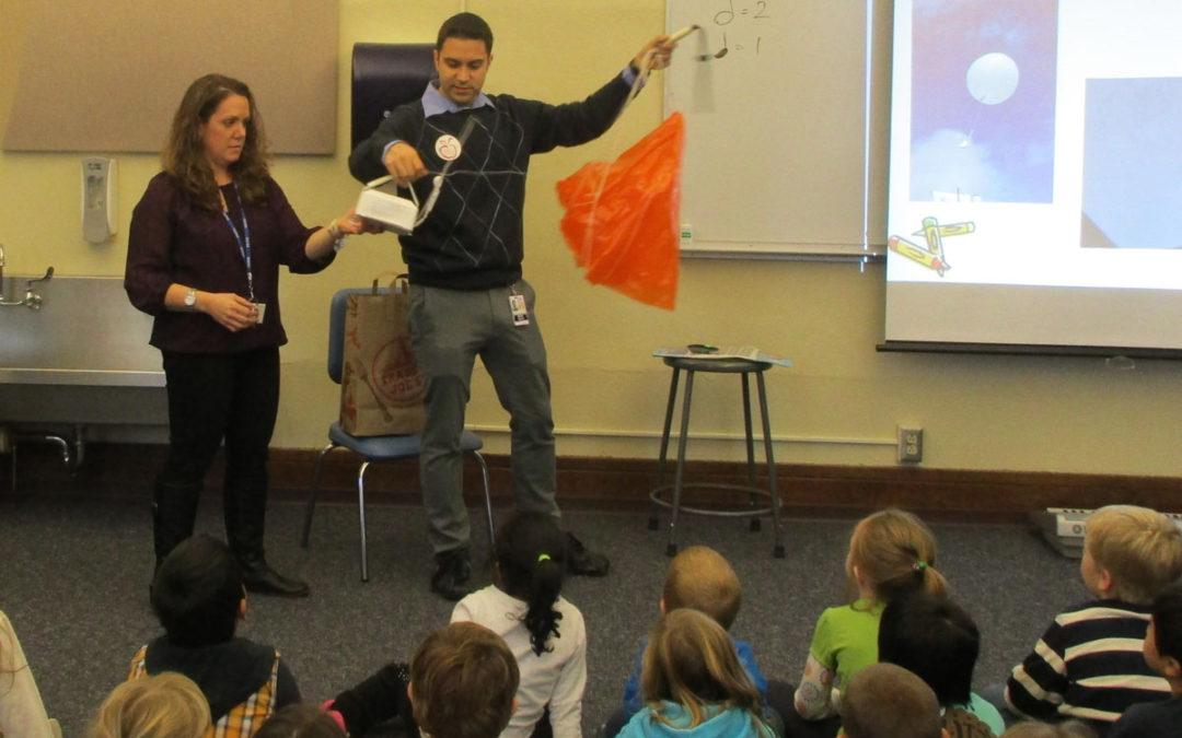 Meteorologist Visits Kindergarten Classes