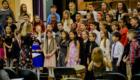 Student chorus sings at concert