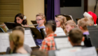 Students play instruments at concert