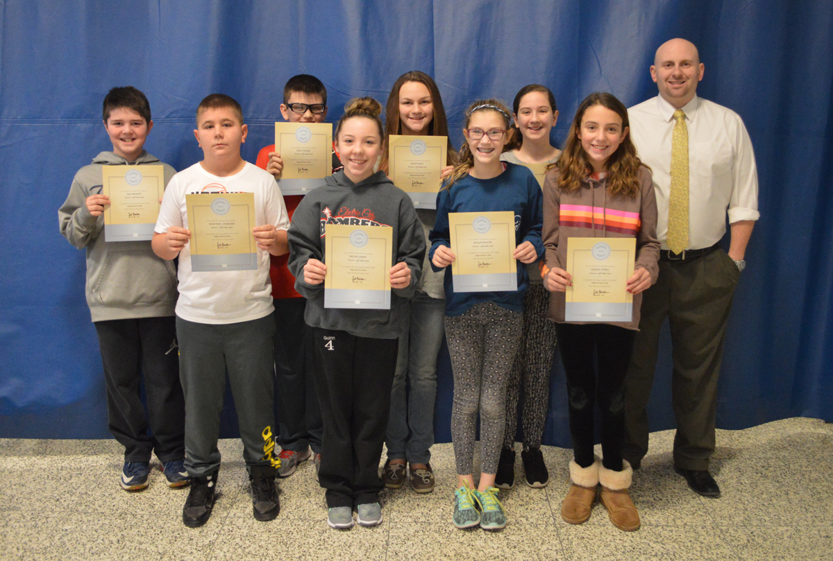 20170110 Goff students of the month 6th grade