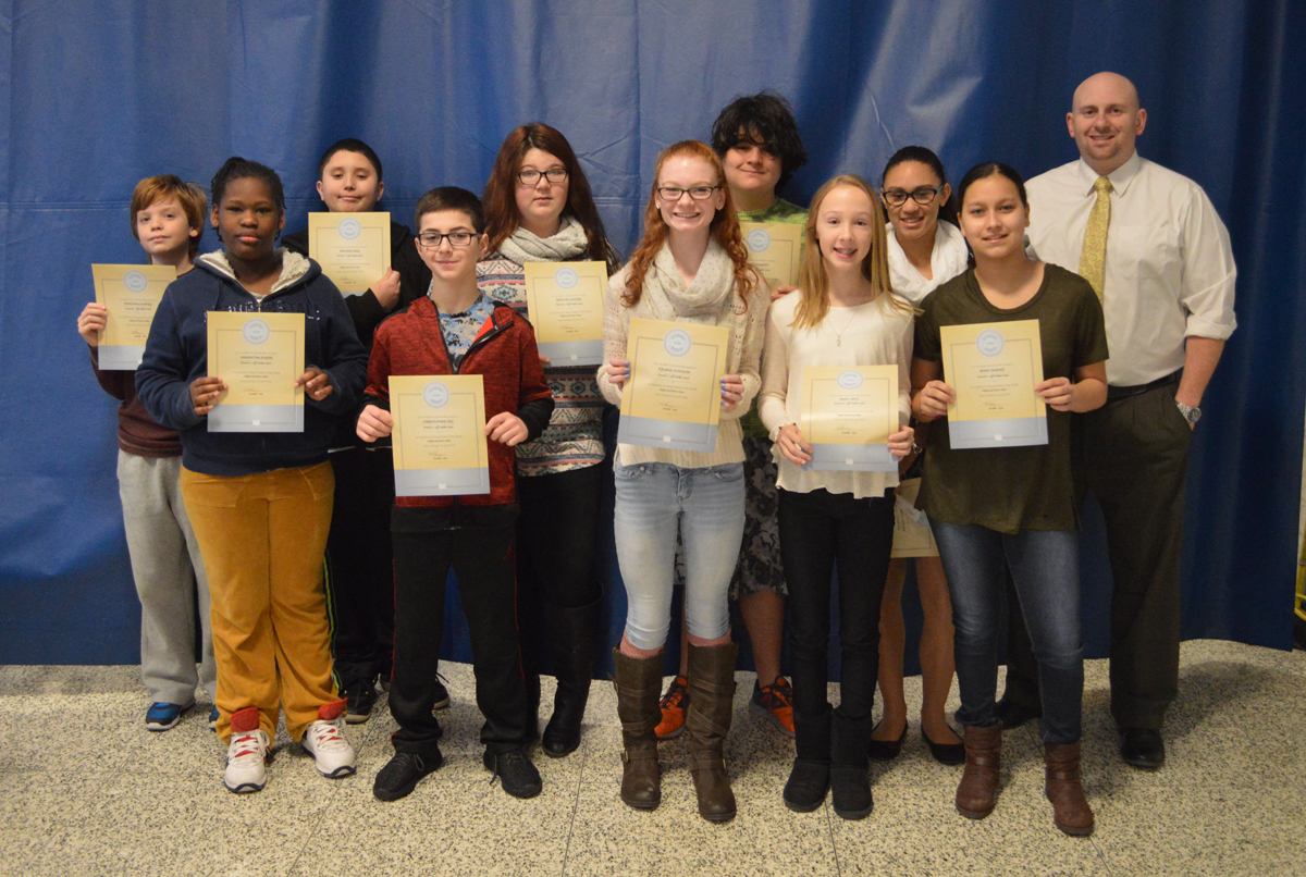 20170110 Goff students of the month 7th grade