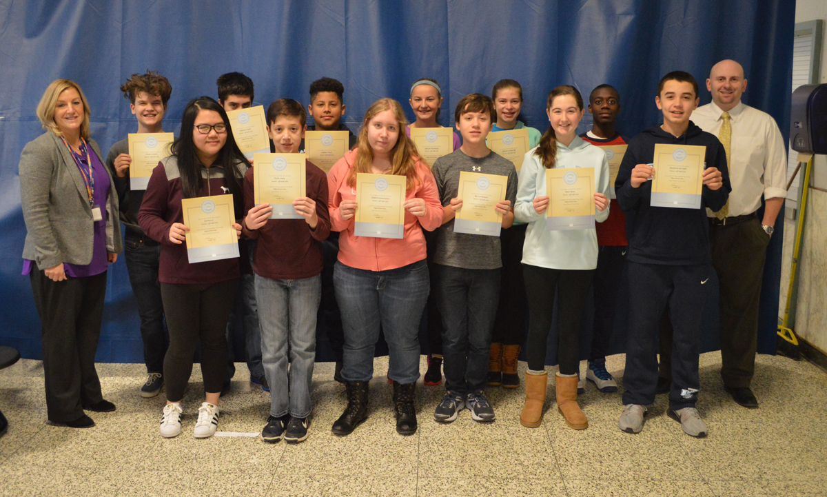 20170110 Goff students of the month 8th grade