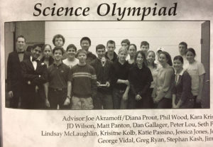 Neil Swami with the Science Olympiad team in 2003.